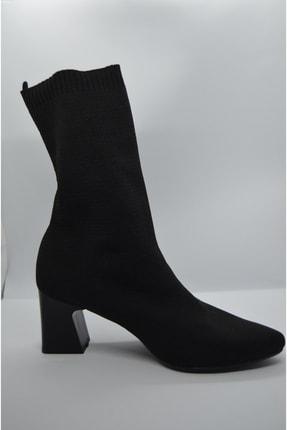GARDA Kadın Siyah Topuklu Çorap Model Bilekte 2