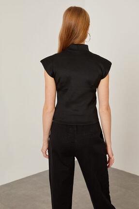 Arma Life Kadın Siyah Vatkalı Dalgıç Bluz 4