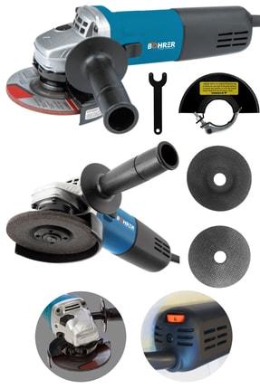 BÖHRER 1350w Professional X-torq Devir Ayarlı Metal Şanzuman Avuç Içi Taşlama Makinesi 115 Mm Mavi Bh-1350 0