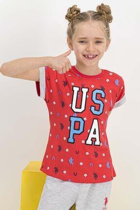 US Polo Assn Lisanslı Nar Kız Çocuk Kapri Takım 1