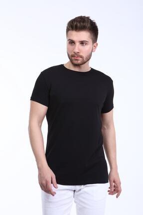 İng drop Erkek Çok Renkli 3'lü Paket Basic Slim Fit T-shirt 1