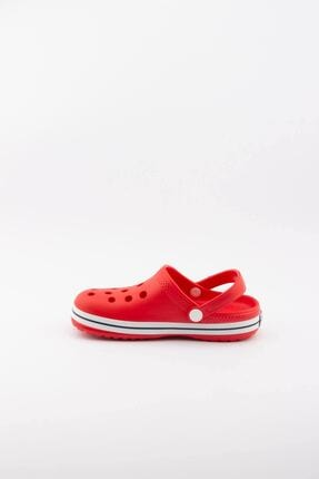 Akınalbella Çocuk Kırmızı Beyaz Şeritli Crocs Terlik 2