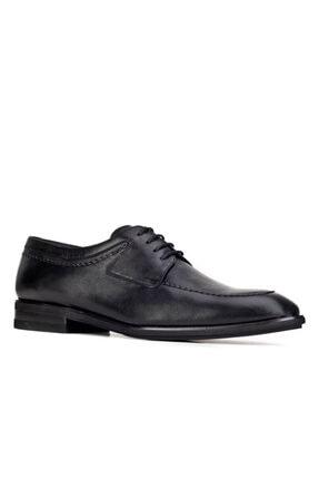 Cabani Işleme Detaylı Light Taban Bağcıklı - Erkek Ayakkabı Siyah Analin Deri 0