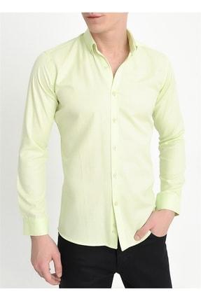 Efor Gk 560 Slim Fit Limon Klasik Gömlek 0