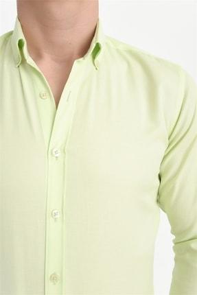 Efor Gk 560 Slim Fit Limon Klasik Gömlek 4