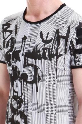Efor Atş 011 Slim Fit Beyaz Spor T-shirt 4