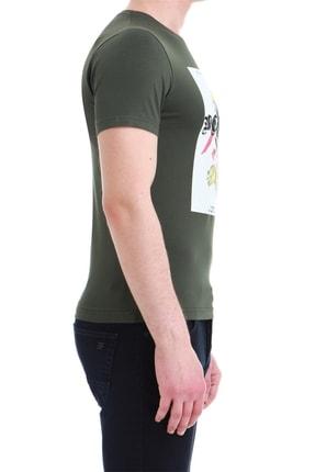 Efor Ts 749 Slim Fit Haki Spor T-shirt 2