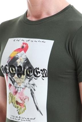 Efor Ts 749 Slim Fit Haki Spor T-shirt 4
