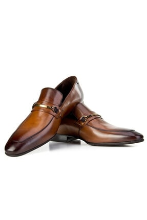 Cabani Kemer Detaylı Klasik Erkek Ayakkabı Taba Sanetta Deri 4