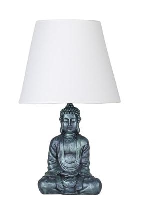 Modern Dizayn Buda Abajur Yeşil-beyaz qdecabjbuda022