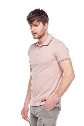 Tena Moda Erkek Koyu Pudra Polo Yaka Tişört 3