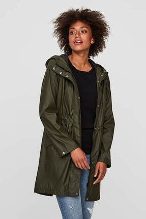 Vero Moda Kadın Haki Yağmurluk 10199174 0
