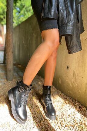 İnan Ayakkabı Bayan Kenarı Lastikli Kenardan Tokalı Bot 1