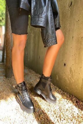 İnan Ayakkabı Bayan Kenarı Lastikli Kenardan Tokalı Bot 3