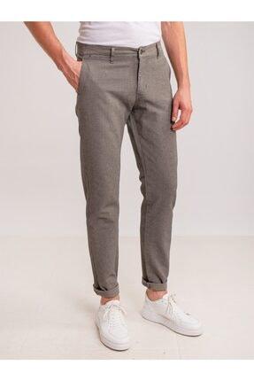 Dufy Taş Armür Pamuk Likra Karışımlı Erkek Pantolon - Classic Fit 0