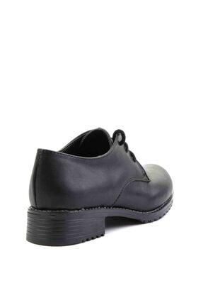 Bambi Siyah Kadın Oxford Ayakkabı M0626144209 3