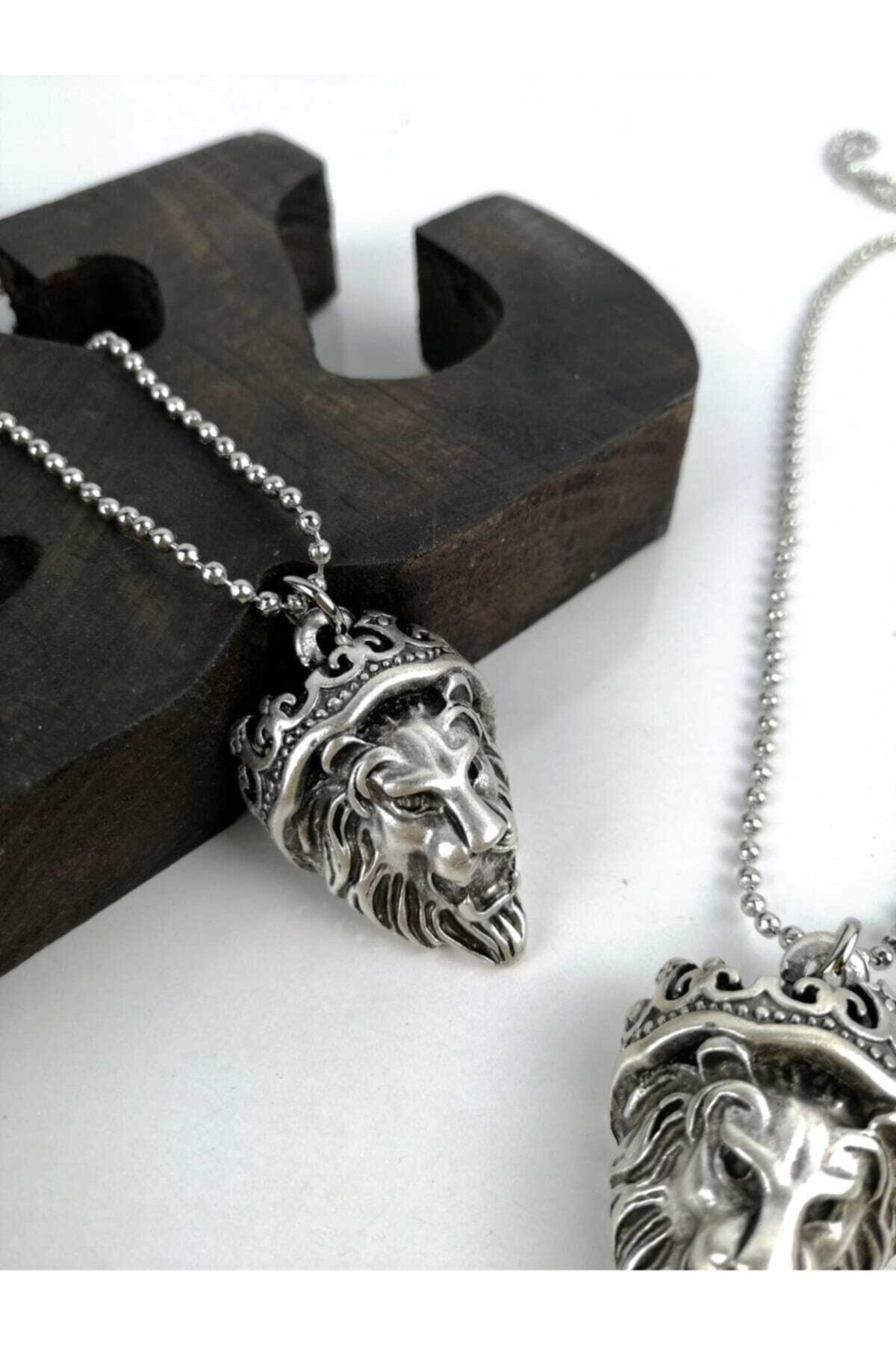 Kadın Erkek Gümüş Kaplama Kolye