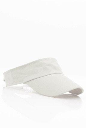 Külah Kadın Güneş Koruyucu Vizör Kasket Siperlik Şapka - Beyaz 0