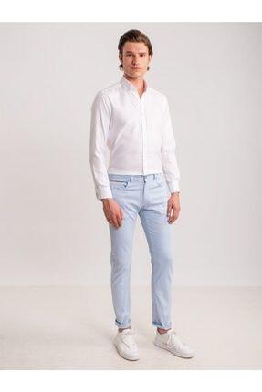 Dufy Buz Mavisi Pamuk Likra Karışımlı Erkek Pantolon - Modern Fit 1