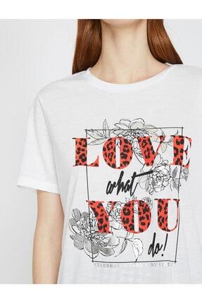 Koton Yazili Baskili T-shirt 4