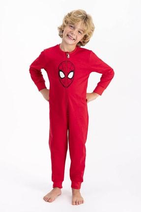 Spiderman Lisanslı Kırmızı Erkek Çocuk Tulum 2