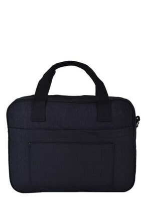 Smart Bags Krinkıl Kumaş Evrak Çantası Siyah 2