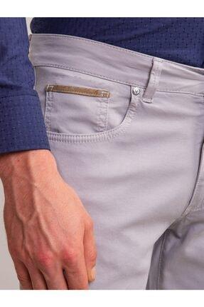 Dufy Gri Pamuk Likra Karışımlı Erkek Pantolon - Modern Fit 1
