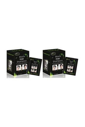 Dexe Siyah Şampuan Black Hair Shampoo Seti 25 ml X 20 (2 Paket) 0
