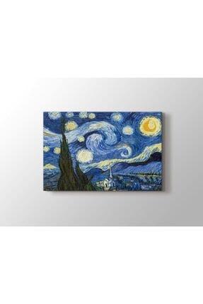 tabloonline Yıldızlı Gece Tablosu - Starry Night - Gece - Vincent Van Gogh - 105x70cm 0