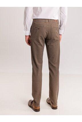 Dufy Toprak Armür Pamuk Likra Karışımlı Erkek Pantolon - Classic Fit 3