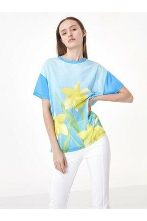 Twist Çiçek Baskı Tshirt 1
