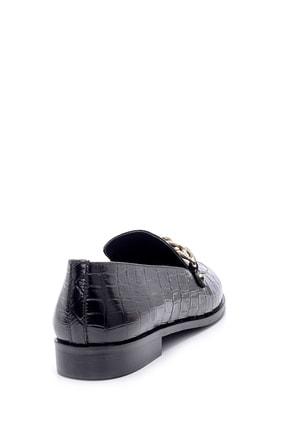 Derimod Kadın Deri Kroko Desenli Loafer 3