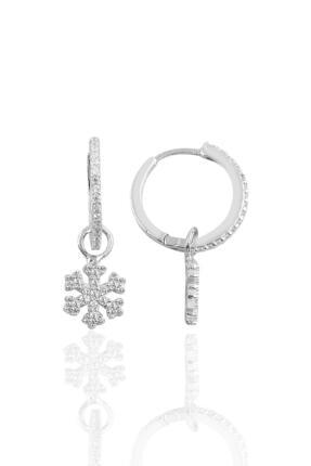 Söğütlü Silver Gümüş Kartanesi Halka Küpe 0