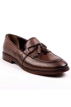 MPP Hakiki Deri Loafer Erkek Ayakkabı Trs502 Kahverengi 0