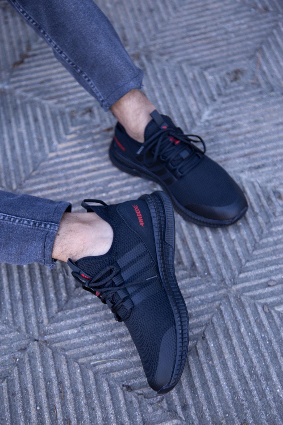 Siyah-siyah Erkek Sneaker 3033