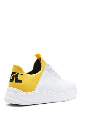 Bulldozer 201434 Beyaz Sarı Erkek Casual Ayakkabı 2