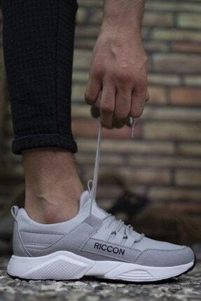 Riccon Erkek Gri Bağçıklı Sneaker 0012072 4
