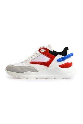 Flower Beyaz Yüksek Tabanlı Spor Ayakkabı 0