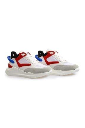 Flower Beyaz Yüksek Tabanlı Spor Ayakkabı 1