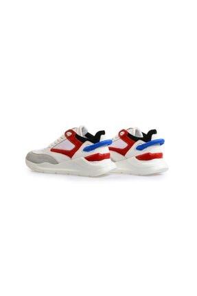 Flower Beyaz Yüksek Tabanlı Spor Ayakkabı 2