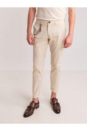 Dufy Taş Aksesuar Detaylı Armür Pamuklu Likra Erkek Pantolon - Modern Fit 0