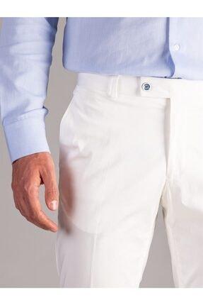 Dufy Beyaz Düz Erkek Pantolon - Regular Fıt 1