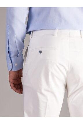 Dufy Beyaz Düz Erkek Pantolon - Regular Fıt 3