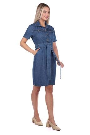 BNY JEANS Banny Jeans Kemer Detaylı Jean Elbise 1