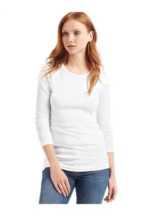 GAP Uzun Kollu Sıfır Yaka T-shirt 0