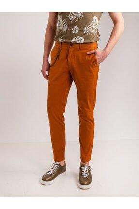 Dufy Bakır Aksesuar Detaylı Armür Pamuklu Likra Erkek Pantolon - Modern Fit 2