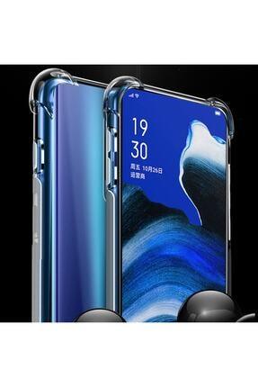 Telefon Aksesuarları Reno 2z Kılıf Köşeleri Sert Silikon Shockpro Şeffaf 0