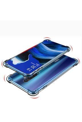 Telefon Aksesuarları Reno 2z Kılıf Köşeleri Sert Silikon Shockpro Şeffaf 1