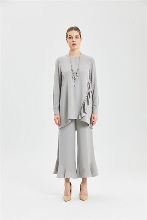 CLIO Collection Tunik Pantolon Takım Gri 20y1543005 0