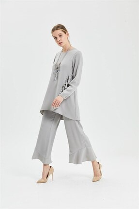 CLIO Collection Tunik Pantolon Takım Gri 20y1543005 1